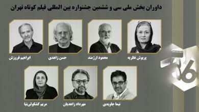داوران بخش مسابقه ملی سی و ششمین جشنواره فیلم کوتاه تهران